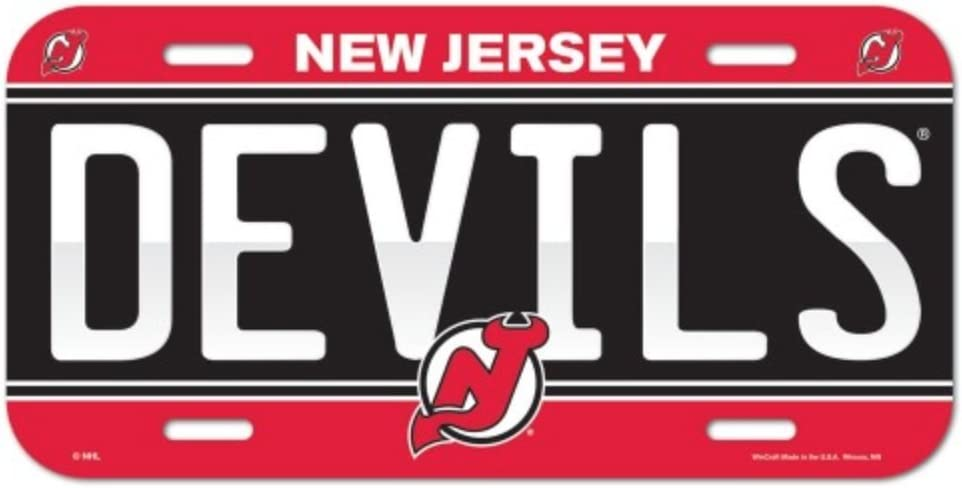 Wincraft NHL New Jersey Devils 6x12 Plastic License Plate