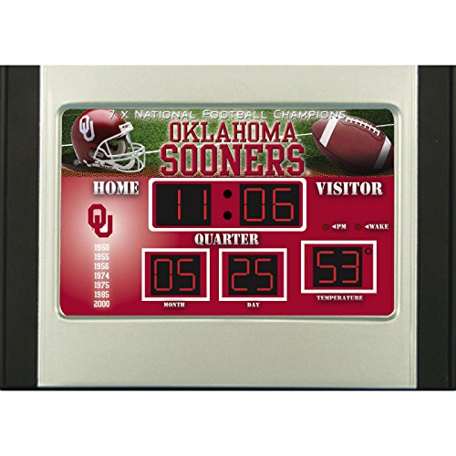Oklahoma Sooners Scoreboard Desk Clock