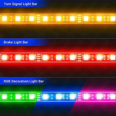 SUPAREE 12Pcs Motorcycle LED Light Kit Universal Strips Multi-Color Mufti-Function Accent Glow Neon Ground Effect Atmosphere Lights with Wireless Remote Controller: Automotive