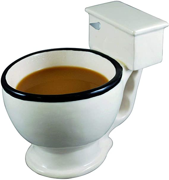 BigMouth Inc. The Original Toilet Mug – Hilarious 12 oz Ceramic Coffee Cup in the Shape of a Toilet – Perfect for Home or Office, Makes a Great Gag Gift for All Ages