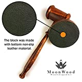 Rustic Gavel & Block Set - Handcrafted Vintage
