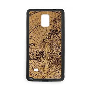 Vintage World Map For Samsung Galaxy Note4 N9108 Phone Cases NDG637190