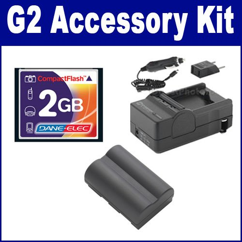 (Canon Powershot G2 Digital Camera Accessory Kit includes: SDBP511 Battery, T44654 Memory Card, SDM-116 Charger)
