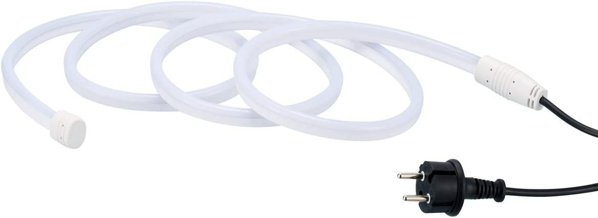 Ogeled Neon LED Streife Lichtband 1-50m professional flexible Warmweiß Strip Diffus lichtband - 230V -120LEDs/M - Dimmbar - IP65 [Energieklasse A+] (10m) Ip68 30meter