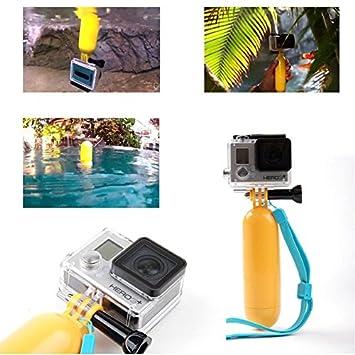 darkhe (TM) Nueva llegada Amarillo GoPro Hero Agua flotante mango de agarre de mano