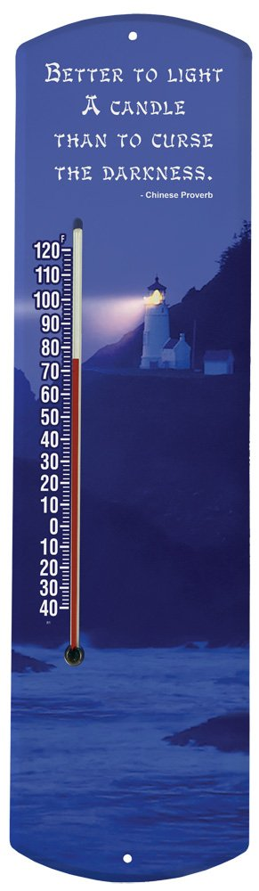 Heritage America by MORCO 375LC Better to Light a Candle Outdoor or Indoor Thermometer, 20-Inch
