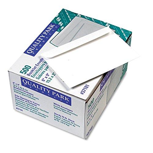Quality Park 37181 Booklet Envelope, Plain, 24lb, 6