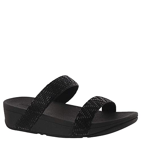 3c6fd3c5b02 Fitflop Lottie Chevron Slide Sandal 2019 Black  Amazon.co.uk  Shoes ...