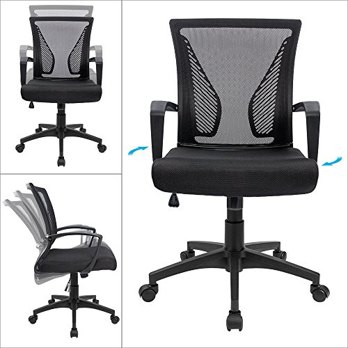 Swivel Computer Chair With Lumbar Support