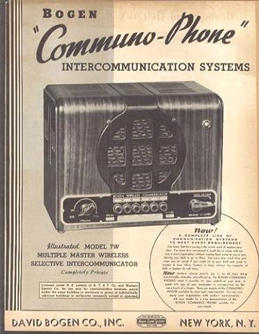 Bogen Communo-Phone Intercom System folder 1930s - Bogen Intercom