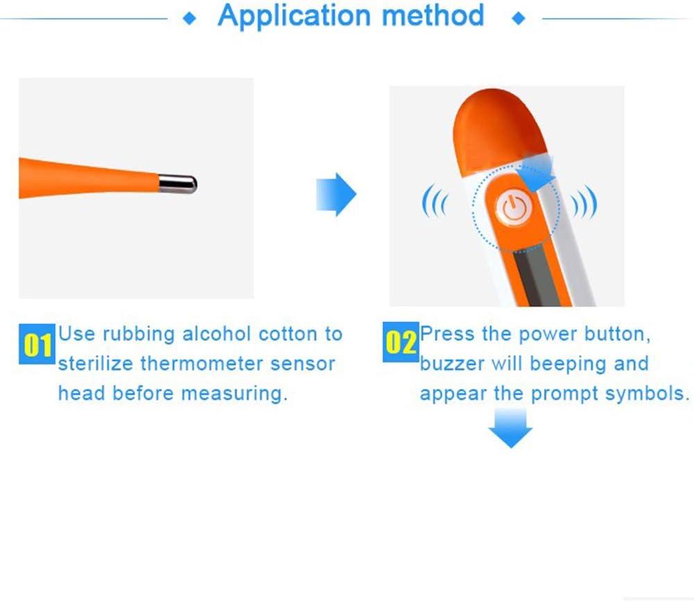 term/ómetro de la Fiebre Thermometre Adultos Digital con Pantalla LED Medici/ón r/ápida Adecuado para Adultos//ni/ños Term/ómetro electr/ónico