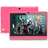 7 Inch Android Tablet PC, 4.2 Jelly Bean, Dual Core, Allwinner A23 CPU, Dual Cameras, 5 Point Capacitive Touch Screen - Pink