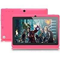 iRulu 7 inch Android Tablet PC, 4.2 Jelly Bean OS, Dual Core, Allwinner A23 CPU, Dual Cameras, 5 Point Capacitive Touch Screen, 8GB Storage,Pink Color