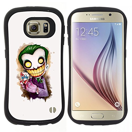 Pulsar iFace Series Soft TPU Skin Bumper Case Cover for Samsung Galaxy S6 , Scary Clown White Face Big Teeth (Clown Faces Scary)