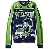 FOCO Seattle Seahawks Wilson R. #3 2015 Player Ugly Sweater Medium