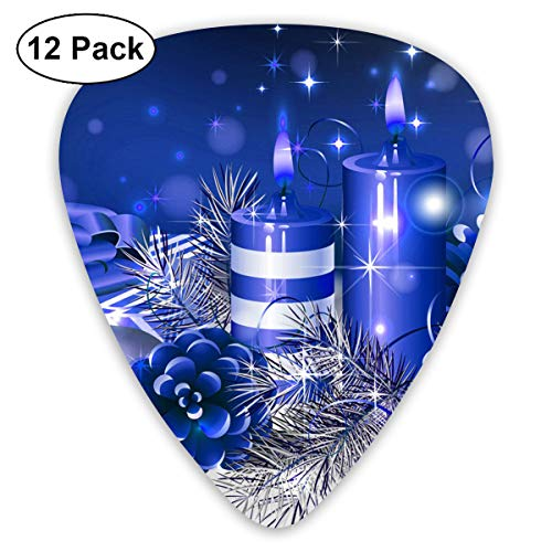 (351 Shape Classic Guitar Picks Christmas Candle Plectrums Instrument Standard Bass 12 Pack)