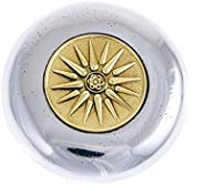 Handmade Solid (Aluminum & Brass) Metal Paper-Weight (Presse Papier), Sun of Vergina Design, Decorative De