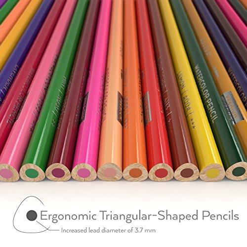 Arteza Pencils, Soft-Core, Triangular-shaped, Pre-sharpened