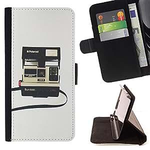 BullDog Case - FOR/HTC Desire 820 / - / instant camera photography retro /- Monedero de cuero de la PU Llevar cubierta de la caja con el ID Credit Card Slots Flip funda de cuer