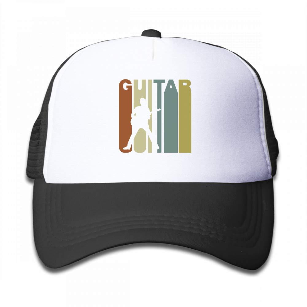 NO4LRM Kid's Boys Girls Retro Style Guitar Youth Mesh Baseball Cap Summer Adjustable Trucker Hat by NO4LRM (Image #1)