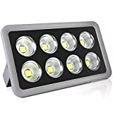 Morsen 400W LED Outdoor Flood Light Waterproof Super Bright Daylight High Power Security Wall Landscape COB Chip light Spotlight for Commercial Lighting Playground Court Garden Street, Cold White