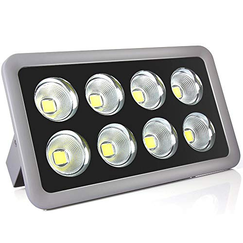 Morsen 400W LED Outdoor Flood Light 40000LM IP65 Waterproof Super Bright Daylight High Power Security Wall Landscape COB Chip Light Spotlight for Commercial Lighting Playground Court Garden Street -