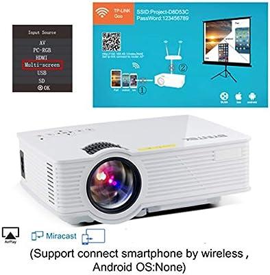 WHLDCD Proyector Mini proyector LED de Cine en casa HD, A Plus ...