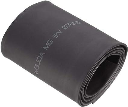 trasparente trasparente diametro 12 mm lunghezza 4 m CUHAWUDBA 2: 1 tubo termoretraibile in poliolefine