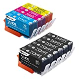 Desk Printer - 564XL Ink Cartridges 4 Color, Sotek 12 Pack Compatible HP 564 Ink Use for Photosmart 7520 6520 5520 5525 6510 Officejet 4610 4620 4622 Deskjet 3520 3521 3522 Printers (6BK/2C/2M/2Y)