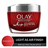 Light Face Moisturizer with SPF 25 by Olay Regenerist Whip with Collagen Peptides, Anti-Aging Face Cream, 1.7 Oz