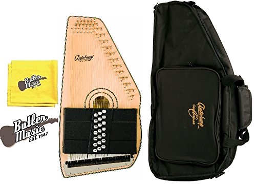 Oscar Schmidt Model OS120CN 21 Chord Adirondack Autoharp w/Gig Bag and Polish Cloth by Oscar Schmidt