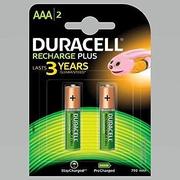 Duracell - Pila recargable - AAAx2 Accu