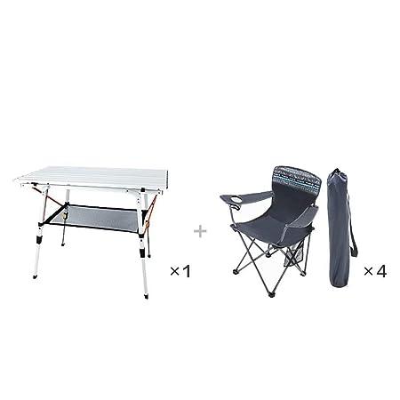 HSTFⓇ Juego de balcón - Mesa y sillas Plegables - Juego de ...