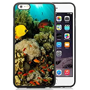 Fashionable And Unique Designed Cover Case For iPhone 6 Plus 5.5 Inch With Coral Reef Fish_Black Phone Case