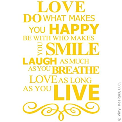 Amazon Live Laugh Love Smile And Happy Quote Vinyl Wall Decal Fascinating Smile Laugh Love Quotes