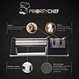 PriorityChef-Knife-Sharpener-for-Straight-and-Serrated-Knives-2-Stage-Diamond-Coated-Sharpening-Wheel-System-Black