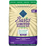 Blue Buffalo Basics Limited Ingredient Diet, Grain Free Natural Adult Dry Dog Food, Turkey & Potato 24-lb