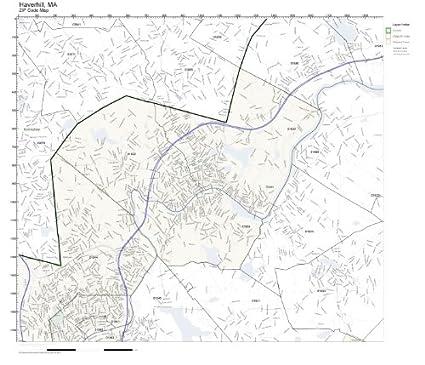 Haverhill Ma Zip Code Map.Amazon Com Zip Code Wall Map Of Haverhill Ma Zip Code Map