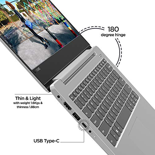 Lenovo Ideapad 330s Intel Core i3 8th Gen 14-inch Full HD Thin & Light Laptop (4GB/1TB HDD/Windows 10 Home/Platinum Grey/1.7kg), 81F400GLIN
