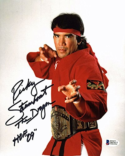 Ricky Steamboat The Dragon Hof 09 Wwe Wrestling Signed 8x10 Photo - Beckett Certified