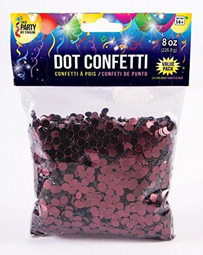 Forum Novelties 8 Oz Dot Confetti, Burgundy ()