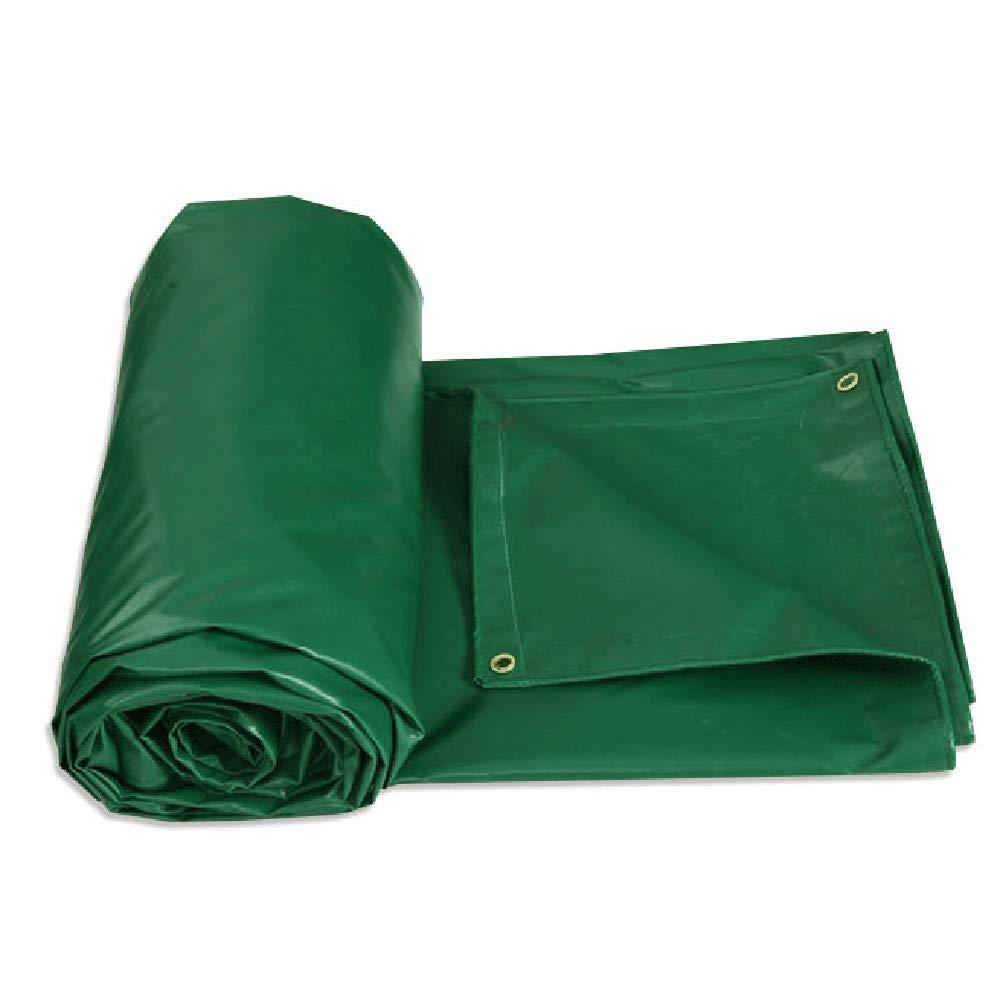 LJQ FSB ZXQZ Wasserdichte Plane Tarps, 6m x 8m Dicke Plane wasserdicht, Sonnenschirm, ideal für Plane Zelte, Stiefele, Hausdächer, grün Visier Tuch