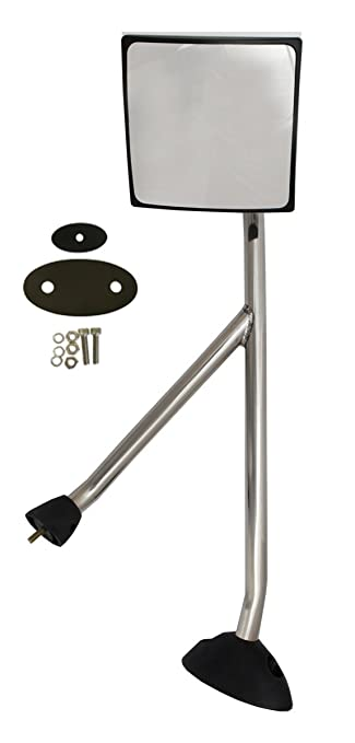 PETAPARTS PBP 35-036-V1 Hood Mirror with Stainless Arm and Mounting Kit Passenger Side Fit: International ProStar