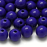 8mm Beads for Crafts, Jewelry Making Plastic Acrylic 8mm Round Solid Opaque Colored Beads with 2mm Hole 100pcs