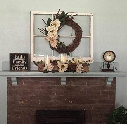 wreath hanger wreath hanger window wood window mantel decor rustic mantel decor