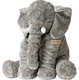 MorisMos Baby Elephant Stuffed Plush Pillow Toy Grey 24inch /60cm
