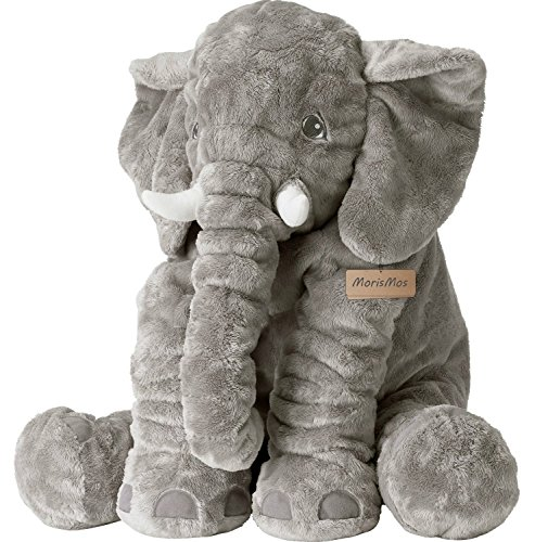 MorisMos Elephant Stuffed Animal Toy Plush Toy for Children Kids Gift Grey 24 inch (60x45x25cm)