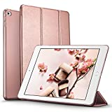 iPad mini 4 Case, ESR Smart Case Cover [Synthetic Leather] Translucent Frosted Back Magnetic Cover with Auto Sleep/Wake Function [Ultra Slim][Light Weight] (Rose Gold)