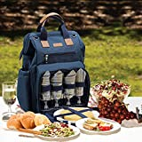 Fish Mouth Picnic Backpack for 4, Insulated Cooler