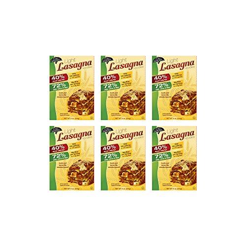 6 Pasta - Fiber Gourmet Inc. Worry Free Pastas - OU Kosher - Light Lasagna Pasta - 6 Pack (8 oz each)